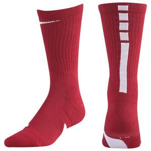 Nike Elite Crew Socks Men  Red White Basketball